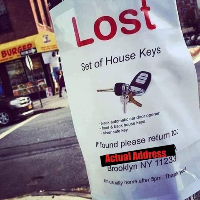 LOST set of house keys